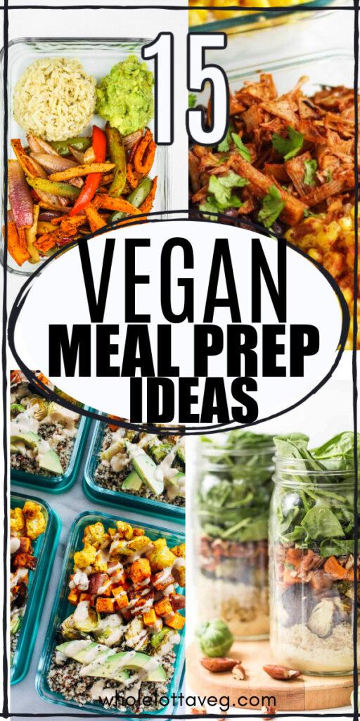 vegan meal prep recipes pin for pinterest