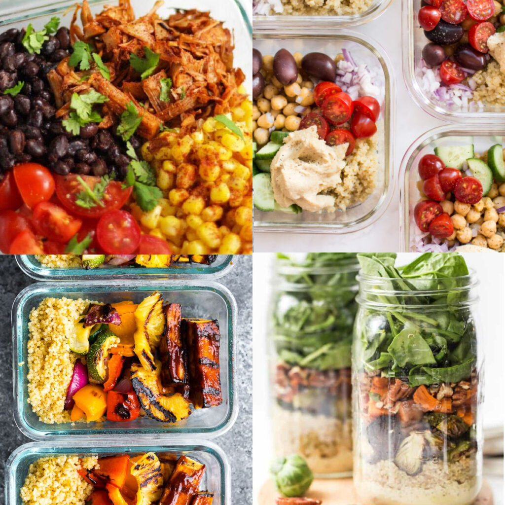 vegan meal prep recipes collage of post recipes