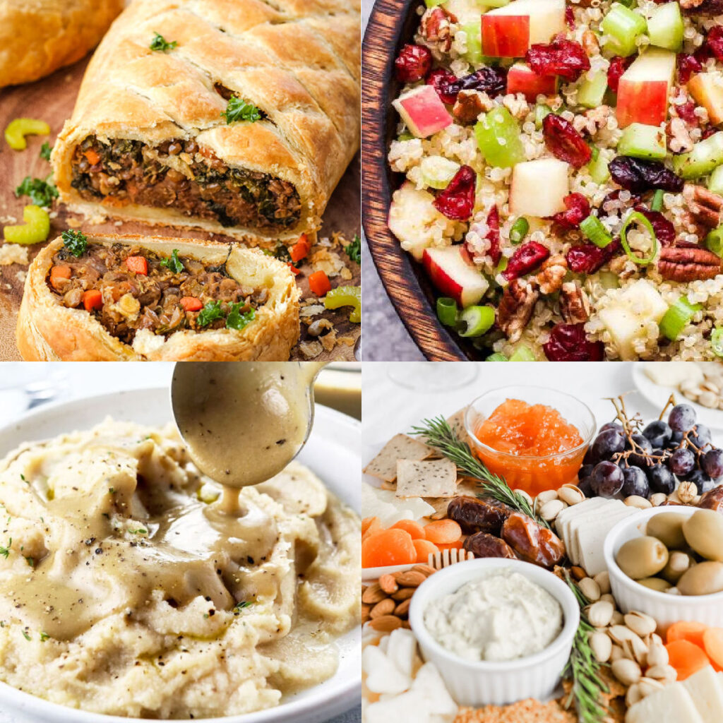 best vegan thanksgiving recipes collage of images