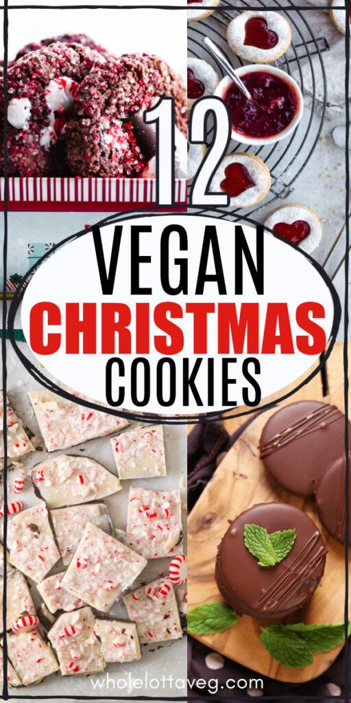 vegan christmas cookies Pinterest pin