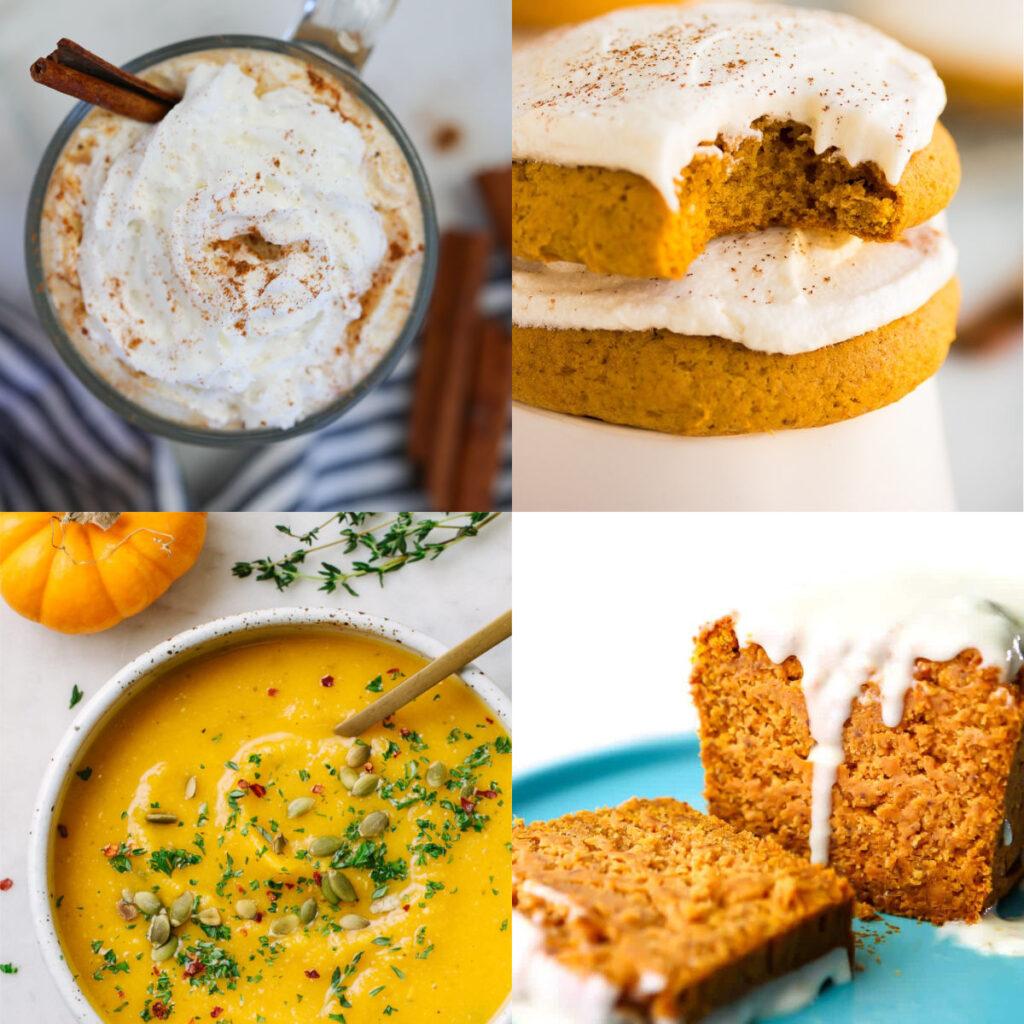 vegan recipes for pumpkin collage of recipes