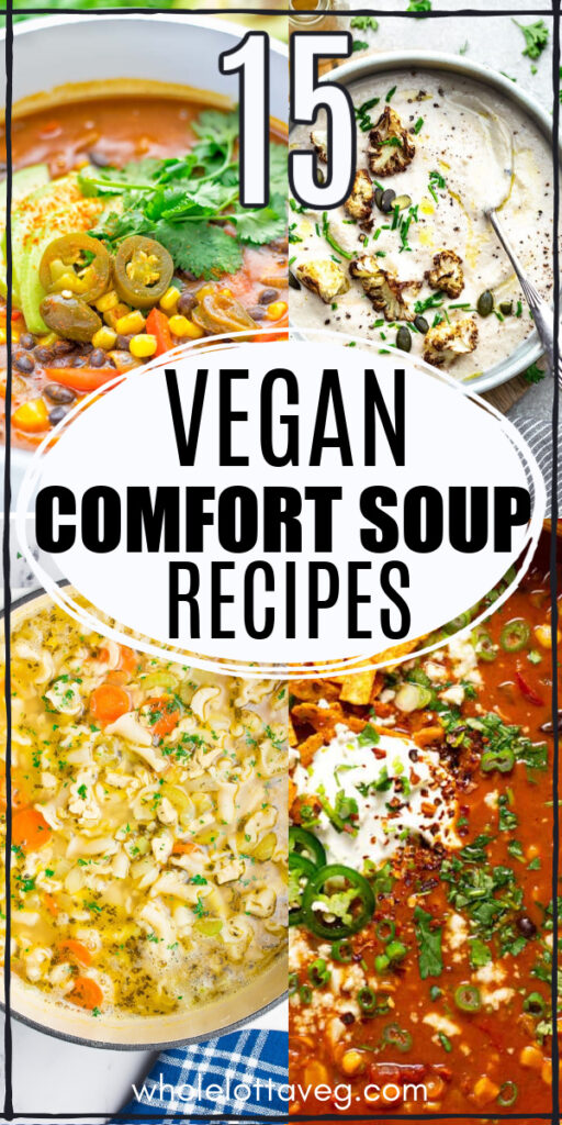 healthy vegan soups Pinterest pin